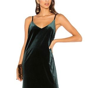 NWOT Sanctuary Velvet Mini Slip Dress Emerald Sz S